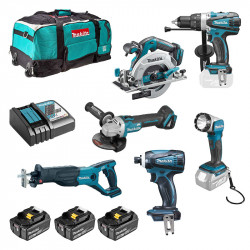 Pack 6 outils MAKITA DLX6076T (3 x 5,0 Ah)