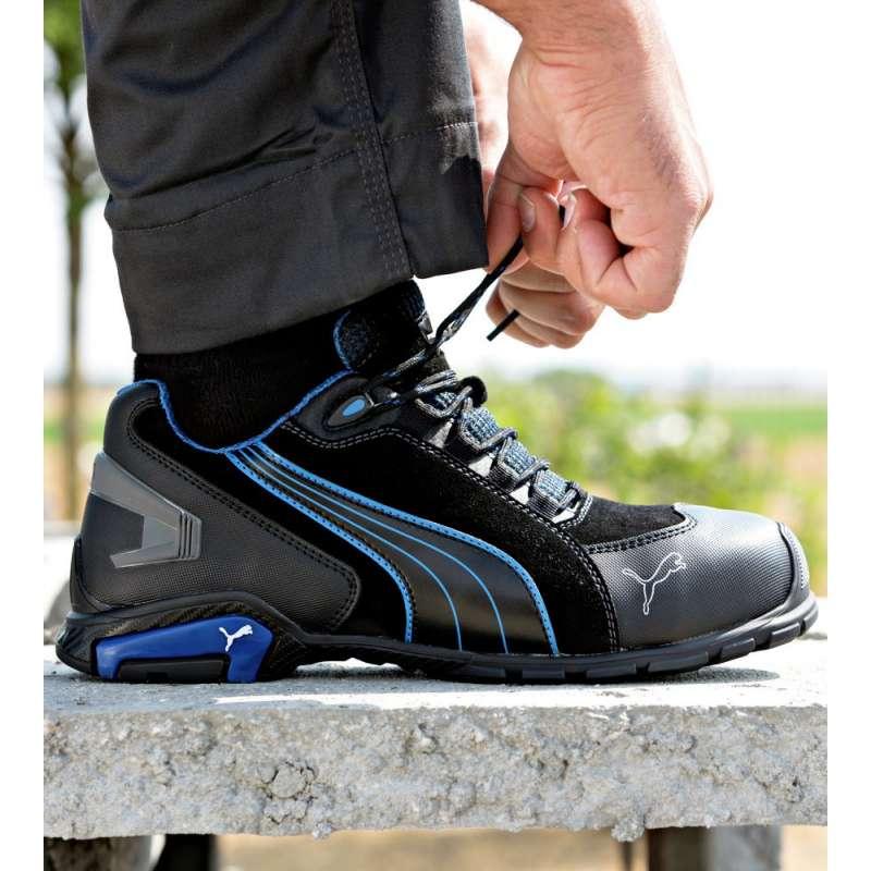 chaussure de s curit puma metro protect rio black low s3 src noire bleue racetools. Black Bedroom Furniture Sets. Home Design Ideas