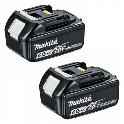 2 Batteries MAKITA BL1860B 18V 6,0 Ah