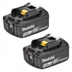 2 Batteries MAKITA BL1830B 18V 3,0 Ah