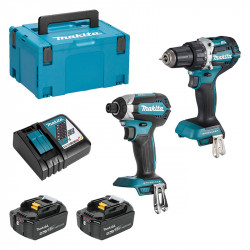 Pack 2 outils MAKITA DLX2189T2x4 (DTD153 + DDF484) 18 V Li-Ion (2 x 4,0 Ah)