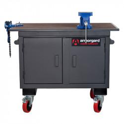 Établi avec armoire de rangement mobile TuffBench ARMORGARD BH1270M