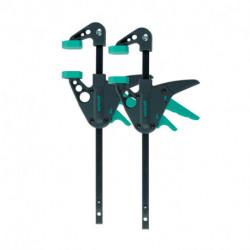 Pack de 2 mini serre-joints à une main WOLFCRAFT 3455100 EHZ 40-110
