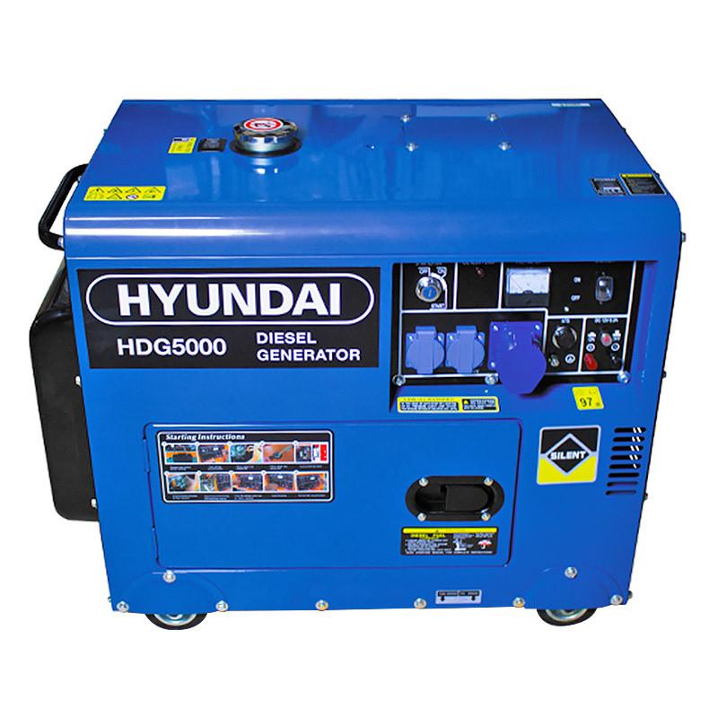 Groupe électrogène HYUNDAI HDG5000 diesel 4500 W 5000 W - Monophasé