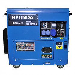 Groupe électrogène HYUNDAI HDG6500 diesel 6000 W 6500 W - Monophasé
