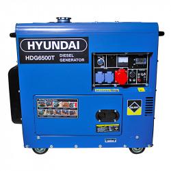 Groupe électrogène HYUNDAI HDG6500T diesel 6000 W 6500 W - Triphasé