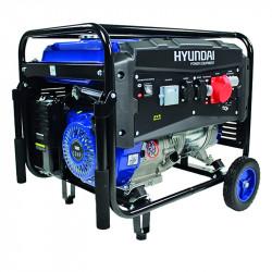 Groupe électrogène HYUNDAI HG5500-1 essence de chantier triphasé 5500 W 5000 W