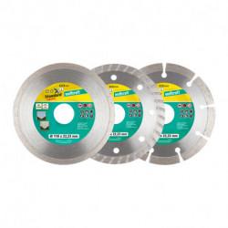 Pack de 3 disques à tronçonner diamant WOLFCRAFT 8392000 Ø110 mm x 22.2 mm
