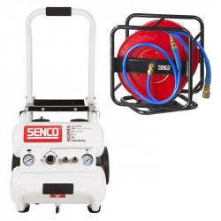 Pack compresseur silencieux sans huile et enrouleur 30 mètres SENCO 8000366