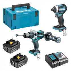 Pack 2 outils MAKITA DLX2176TJ (DHP481 + DTD154) 18V (2 x 5,0 Ah)