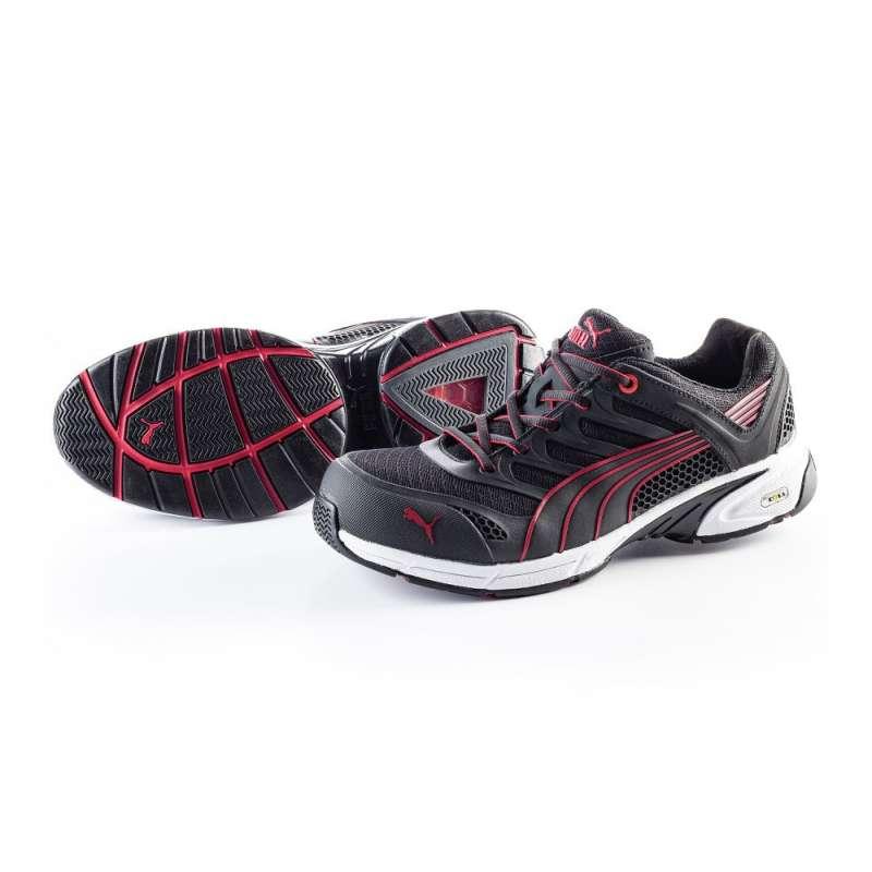 Chaussure de sécurité basse PUMA MOTION PROTECT 64.254.0 Fuse Motion Low S1P HRO SRA NOIR/ROUGE
