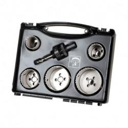 Coffret scies cloches électricien & plombier WOLFCRAFT 3764000 Ø35 à 68 mm