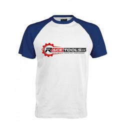 T-shirt RACETOOLS Blanc / Bleu