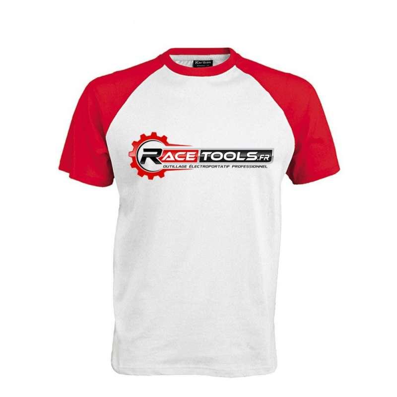 TEE SHIRT RACETOOLS BLANC/ROUGE