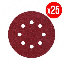 Pack de 25 disques agrippants WOLFCRAFT perforateur G60 Ø125