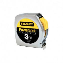Mètre ruban powerlock classic abs STANLEY 3 m x 12,7 mm