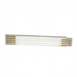 Mesure pliante bois blanc-jaune STANLEY 2 m x 17 mm