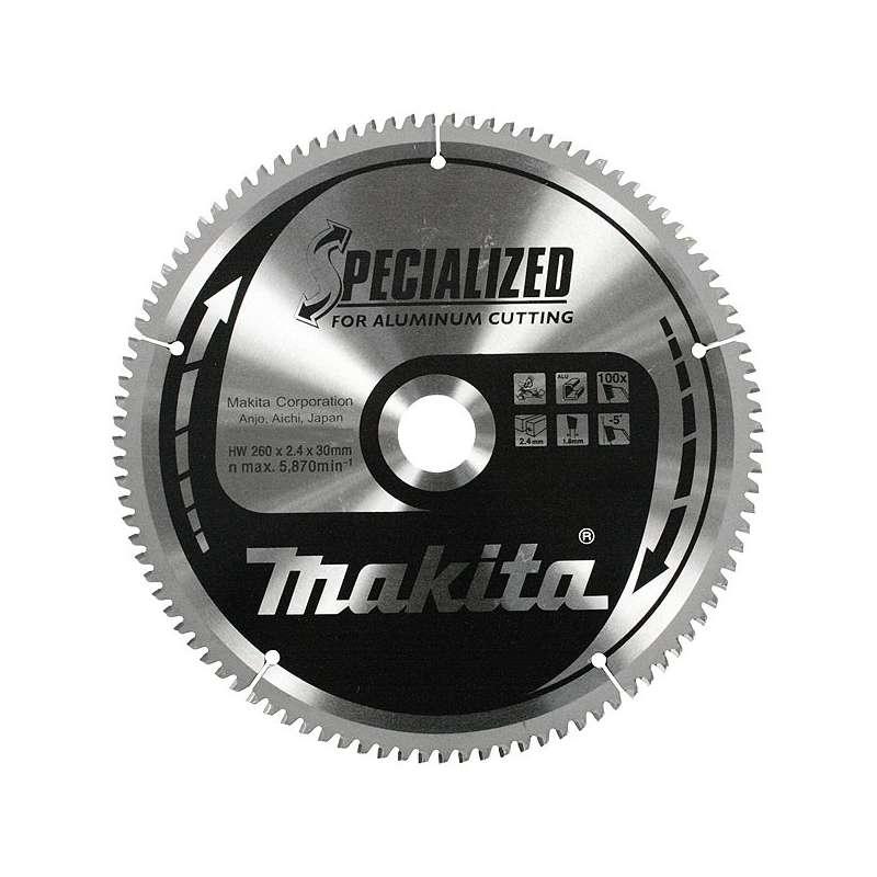 Lame carbure MAKITA B-09628 SPECIAL aluminium, pour scies radiale et à onglets