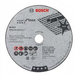 5 Disques à Tronçonner BOSCH 76 mm Expert for Inox pour Meuleuse d'angle GWS 10,8-76 V-EC