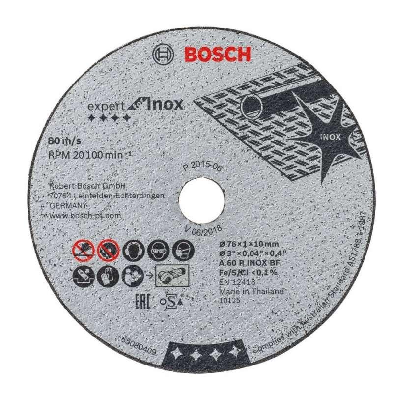 5 Disques à tronçonner 76 mm Expert for Inox pour Meuleuse d'angle GWS 10,8-76 V-EC