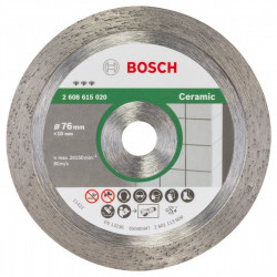 Disque Diamant BOSCH 76 mm Best for Céramic pour Meuleuse d'angle GWS 10,8-76 V-EC