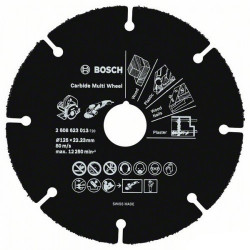 Disque Carbure BOSCH Carbide Multi Wheel 76 mm pour Meuleuse d'angle GWS 10,8-76 V-EC