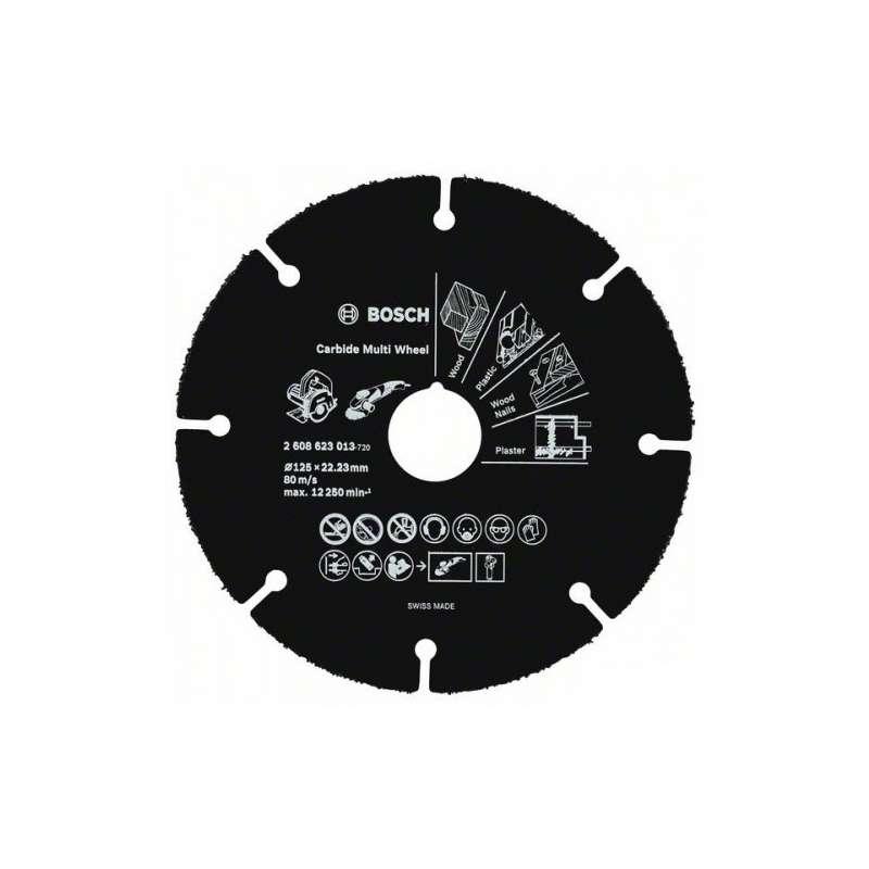 Disque carbure Carbide Multi Wheel 76 mm pour Meuleuse d'angle GWS 10,8-76 V-EC