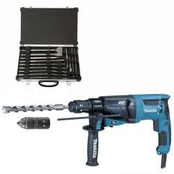Marteau perforateur-burineur MAKITA HR2631FT12 pour SDS-PLUS + D-42444
