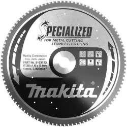 Lame carbure MAKITA B-23123 ''Specialized'' Inox et Métal, pour tronçonneuse à métaux à lame