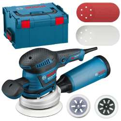 Ponceuse excentrique BOSCH PROFESSIONAL GEX 125-150 AVE 400W + L-Boxx + 50 abrasifs