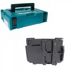 Mak-Pac taille 1 MAKITA + Moulage 838110-1 pour Batterie et Chargeur