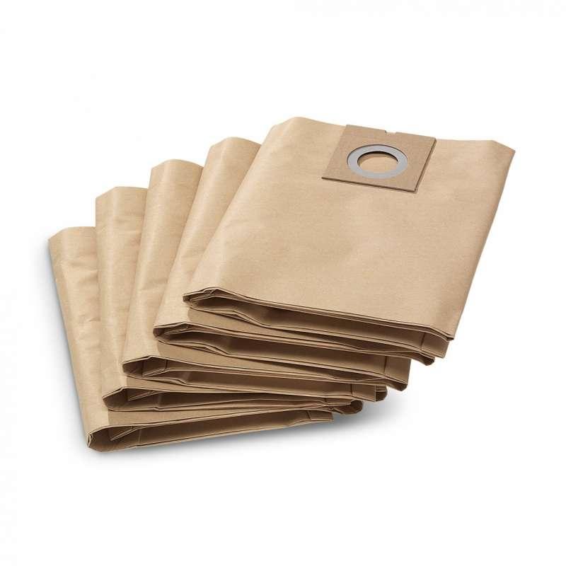 Paquet de 5 Filtres en papier KARCHER 6.904-290.0 pour NT 27/1