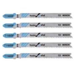 Lot de 5 lames de scie sauteuse T 118 BF BOSCH 2608634503 pour métal