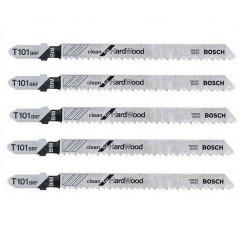 Lot de 5 lames de scie sauteuse T 101 BRF BOSCH 2608634235 pour bois dur
