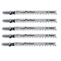 Lot de 5 lames de scie sauteuse T 144 DF BOSCH 2608634567 pour bois dur