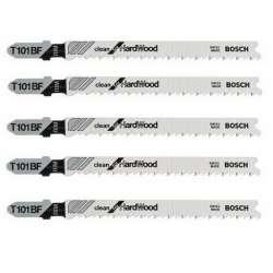 Lot de 5 lames de scie sauteuse T 101 BF BOSCH 2608634234 pour bois dur