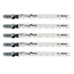 Lot de 5 lames de scie sauteuse T 101 D BOSCH 2608630032 pour bois