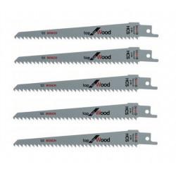 Lot de 5 lames de scie sabre S 644 D BOSCH 2608650673 pour bois