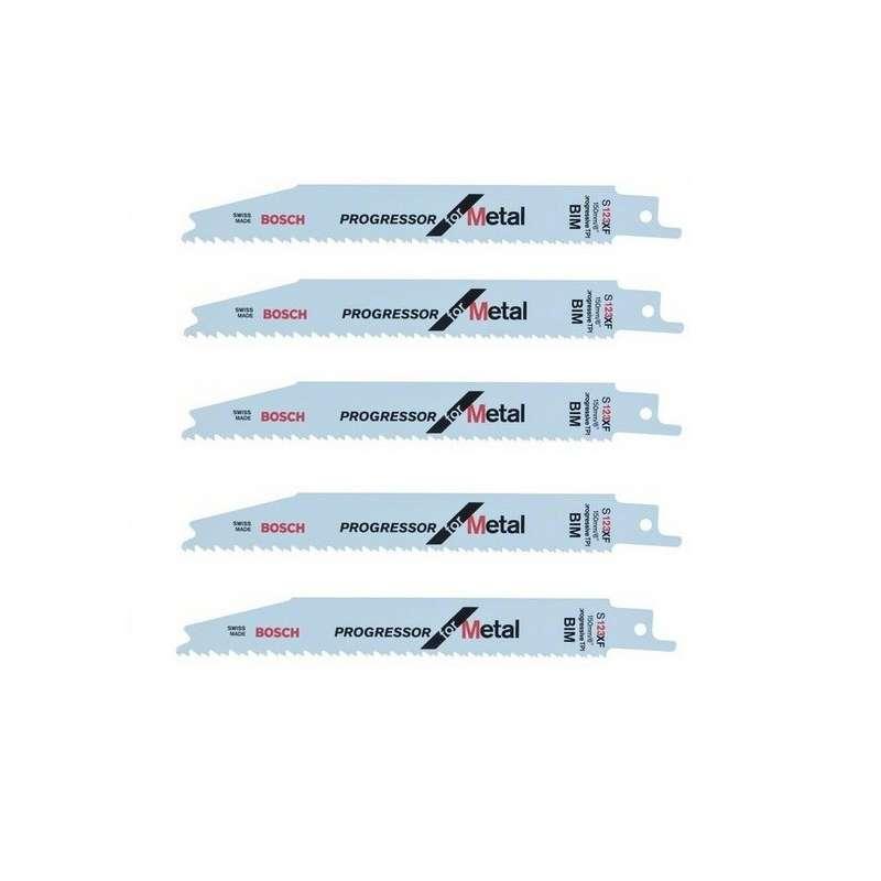 Lot de 5 lames de scie sabre S 123 XF BOSCH 2608654402 pour métal