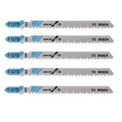 Lot de 5 lames de scie sauteuse T 127 D BOSCH 2608631017 Special for Alu