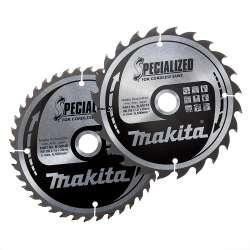 Jeu de 2 lames MAKITA B-49317 SPECIALIZED ACCU Ø 165mm pour scies circulaires