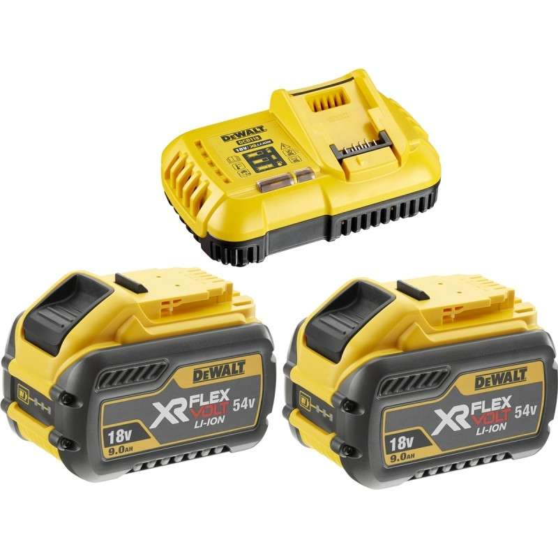 Pack DEWALT DCB118X2 (Chargeur et 2 Batteries 9,0Ah/54V)