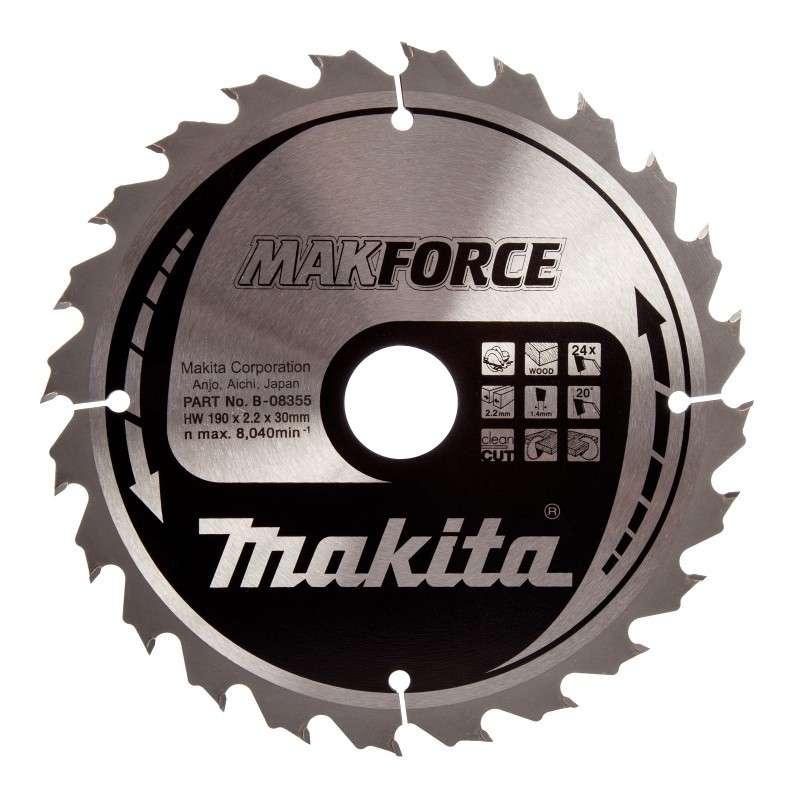 Lame carbure MAKITA B-08355 MakForce pour bois et pour scies circulaires