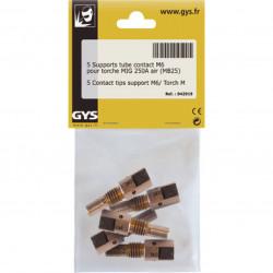 Lot de 5 supports tube contact m6 - torche mig 250 a GYS 042919