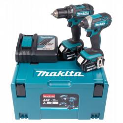 Pack 2 outils MAKITA DLX2127TJ (DDF482 + DTD152) 18 V Li-Ion (2 x 5 Ah)