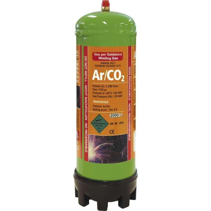 Bouteille de gaz jetable ARGON / C02 2,2 litres GYS 043671