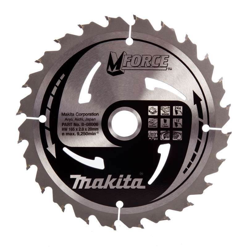 Lame MAKITA B-08006 pour scies circulaires à main M-FORCE