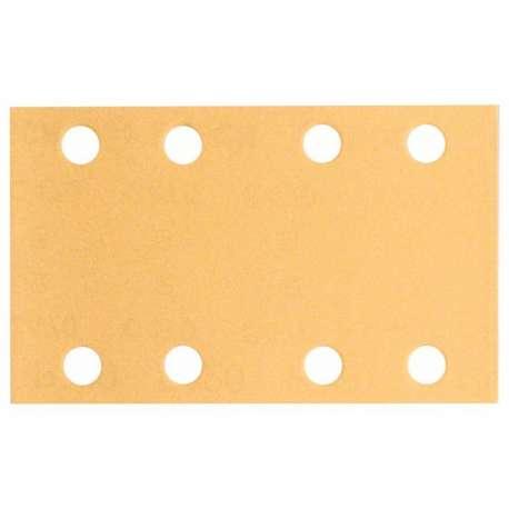 Pack de 10 feuilles abrasives BOSCH C470 pour ponceuse vibrante 80 x 133 mm Best for Wood and Paint 8 trous