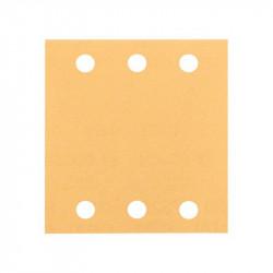 Pack de 10 feuilles abrasives BOSCH C470 pour ponceuse vibrante 115 x 107 mm Best for Wood and Paint 6 trous