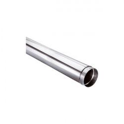 Tuyau droit 1 mètre simple paroi aluminé fuel SOVELOR